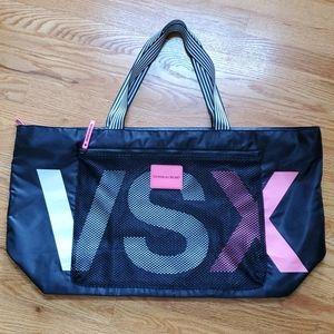 Like new! Victoria's Secret Black & Pink Bag.